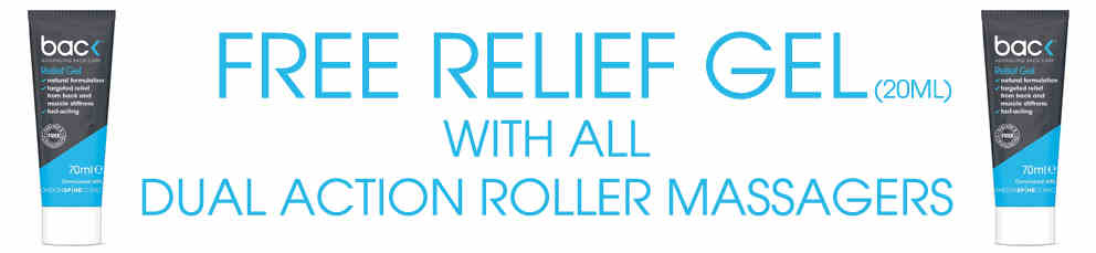 Free relief gel with all dual action roller massages