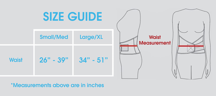 Recovery Wrap - Size Guide
