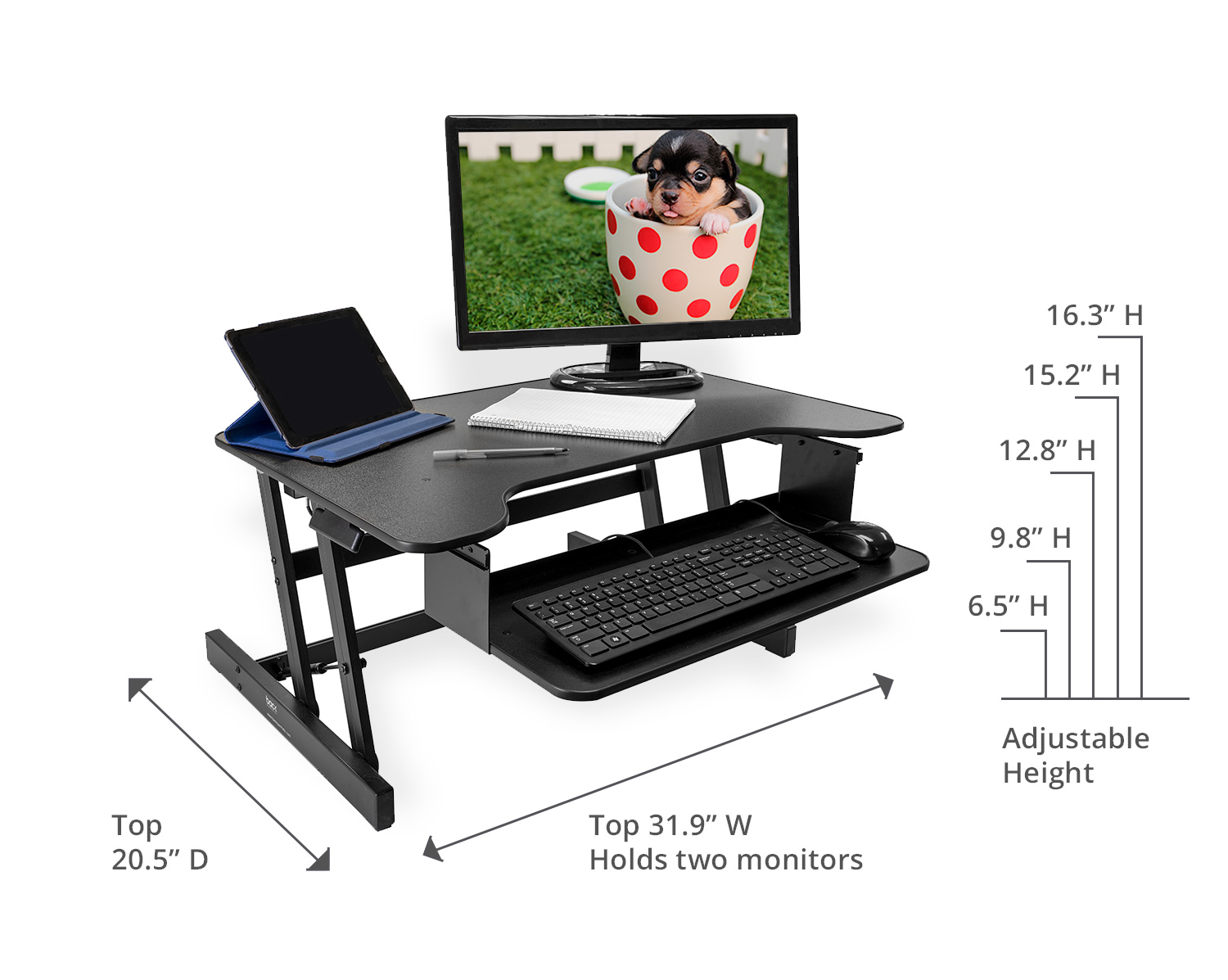 Standing Desk Measurements and dimensions